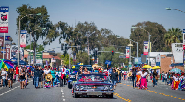 Santiago's B.O.S.S Marches in Corona's Cinco de Mayo Parade