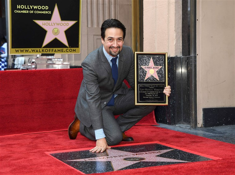 Lin-Manuel Receives a Star on the Hollywood Walk of Fame