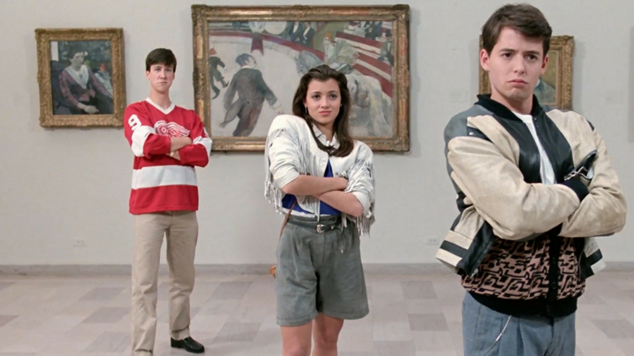 Left to right: Alan Ruck, Mia Sara, Matthew Broderick in Ferris Bueller's Day Off (Photo by Paramount Pictures).