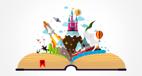 Story Book - Childhood Imagination Concept